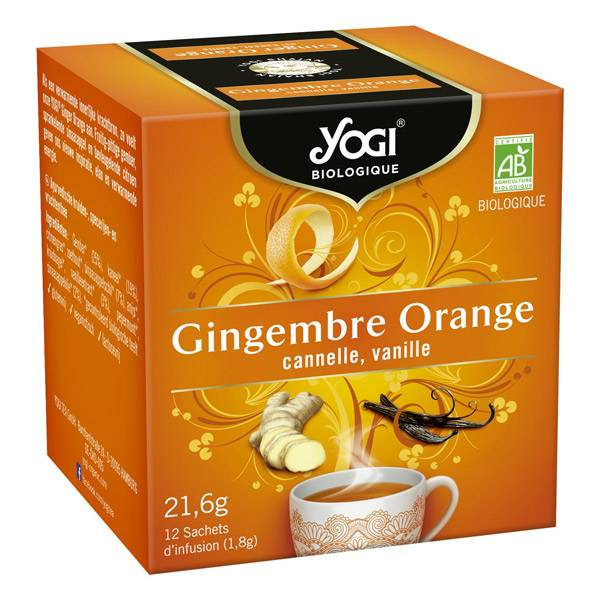 Yogi Biologique Infusions Gingembre Orange 12 sachets