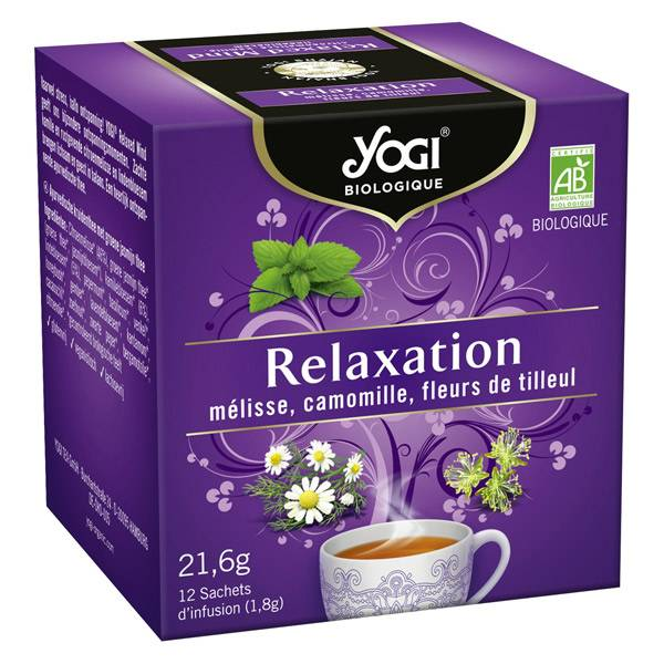 Yogi Biologique Infusions Relaxation 12 sachets