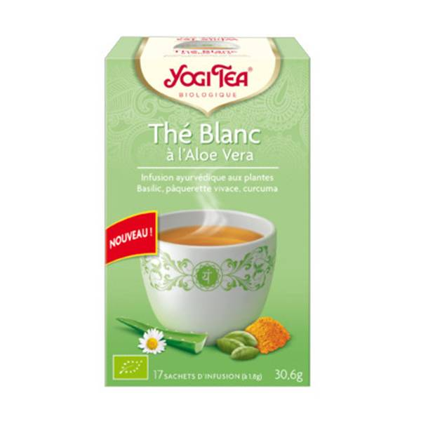 Yogi Tea Thé Blanc à l'Aloe Vera 17 sachets