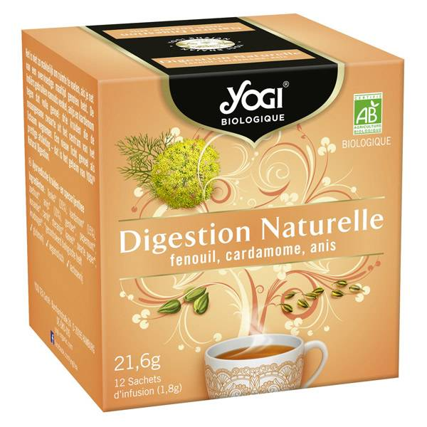 Yogi Biologique Infusions Digestion Naturelle 12 sachets
