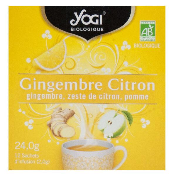 Yogi Biologique Infusions Gingembre Citron 12 sachets
