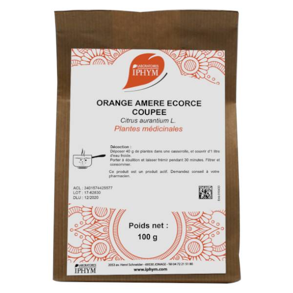 Iphym Vrac Oranger Bigaradier Ecorce Coupée 100g
