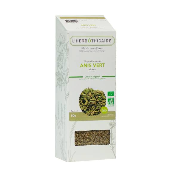 L' Herbothicaire L'Herbôthicaire Tisane Anis Vert Bio 100g