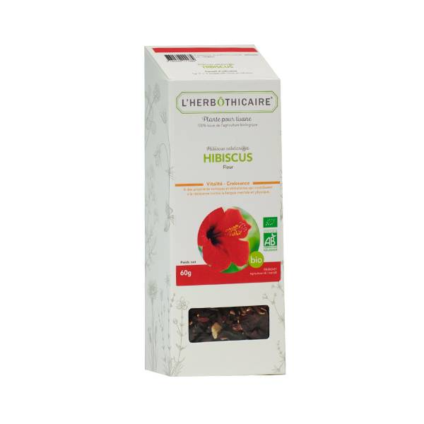 L' Herbothicaire L'Herbôthicaire Tisane Hibiscus Bio 60g