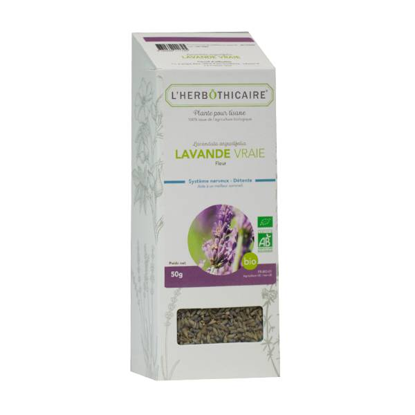 L' Herbothicaire L'Herbôthicaire Tisane Lavande Vraie Bio 50g