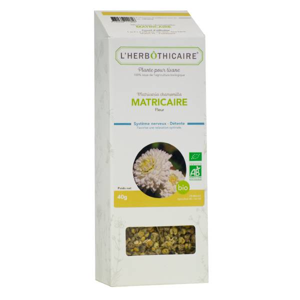 L'Herbôthicaire Tisane Camomille Allemande Matriciaire Bio 50g