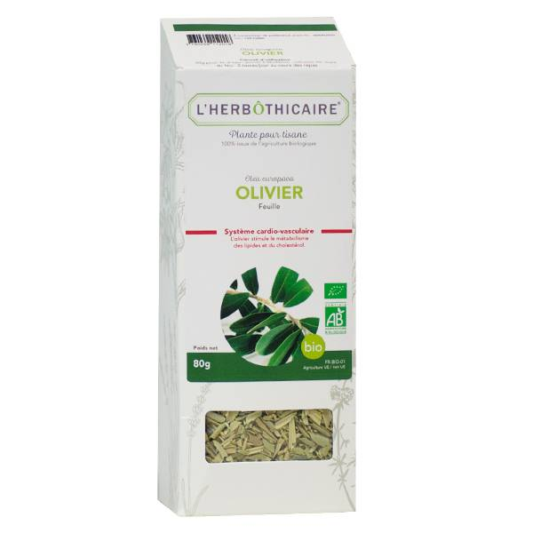 L' Herbothicaire L'Herbôthicaire Tisane Olivier Bio 80g