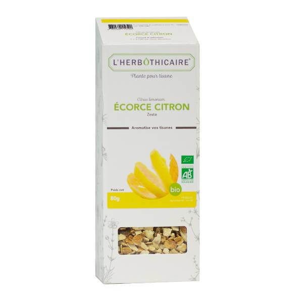 L' Herbothicaire L'Herbôthicaire Tisane Citron Ecorce 80g