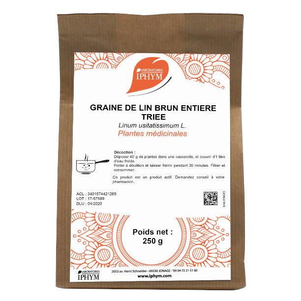 Iphym Vrac Lin Brun Graine Entière Triée 250g