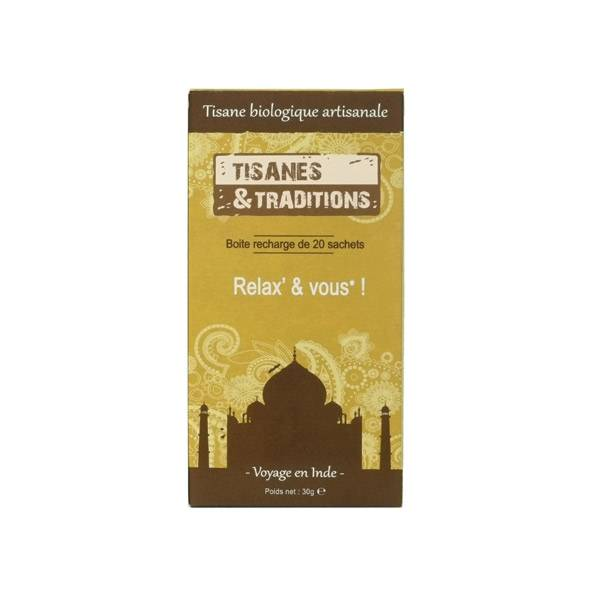 Tisanes & Traditions Relax & Vous Boite Recharge 20 Sachets