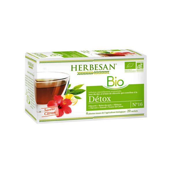 Herbesan Bio Infusion Détox Saveur Citron n°16 - 20 sachets