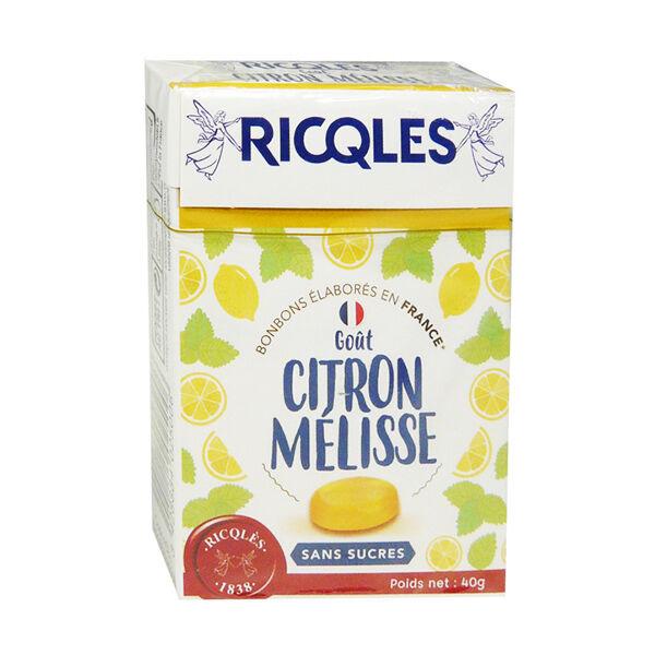 Ricqles Bonbons Citron Melisse sans Sucre 40g