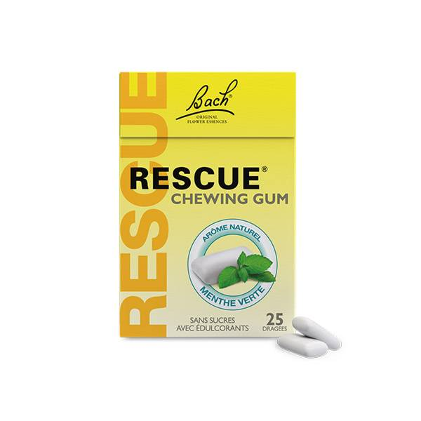 Rescue Chewing Gum Saveur Menthe 25 dragées