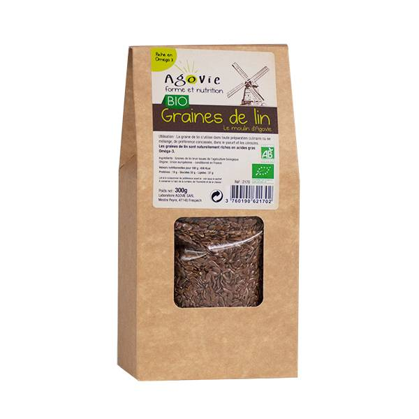 Agovie Bio Graines de Lin 300g
