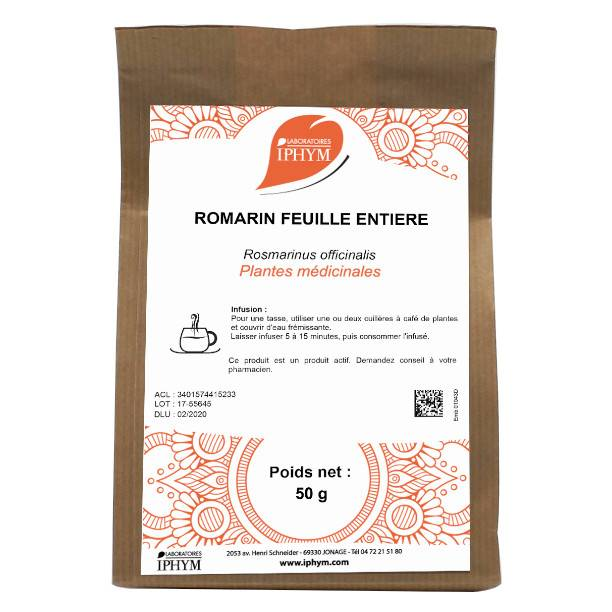 Iphym Vrac Romarin Feuille Entière 50g