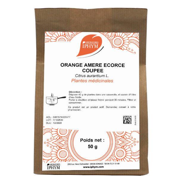 Iphym Vrac Orange Amère Ecorce Coupée 50g