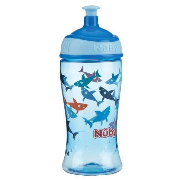 Nuby Gobelet Pop Up +3ans 360ml Bleu Requin