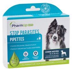 PharmUp Véto Stop Parasites Chien Moyen 15 à 30kg 6 pipettes