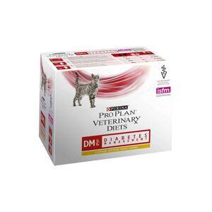 Purina Proplan Veterinary Diets Chat DM (diabete) st/ox Struvite Oxalate Poulet sachet fraicheur 10x85g - Publicité