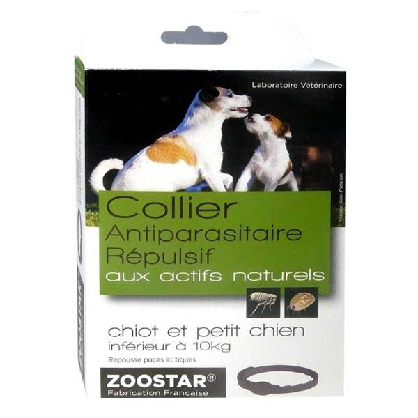 Zoostar Collier Antiparasitaire Répulsif Chiot et Petit Chien Jusqu'à 10kg