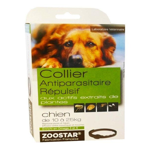 Zoostar Collier Antiparasitaire Répulsif Chien 10 à 25kg
