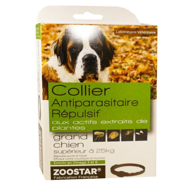 Zoostar Collier Antiparasitaire Répulsif Grand Chien + de 25kg