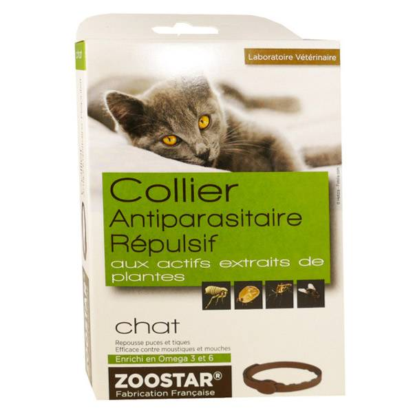 Zoostar Collier Antiparasitaire Répulsif Chat