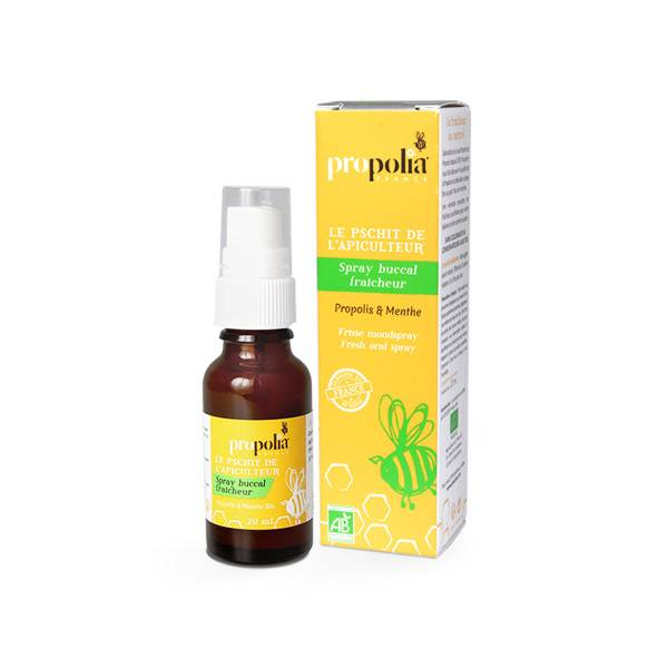 Propolia Le Pschitt de l'Apiculteur Spray Buccal Fraîcheur Propolis & Menthe Bio 20ml