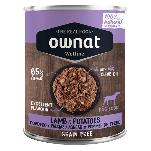 Ownat Grain Free Aliments Humides Chien 65% Agneau et Pommes de Terre 400gr