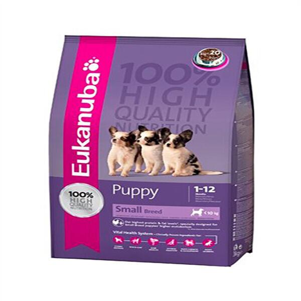 Eukanuba Chien Puppy/Junior (-12mois) Petite Race (-10kg) Poulet Croquettes 3kg