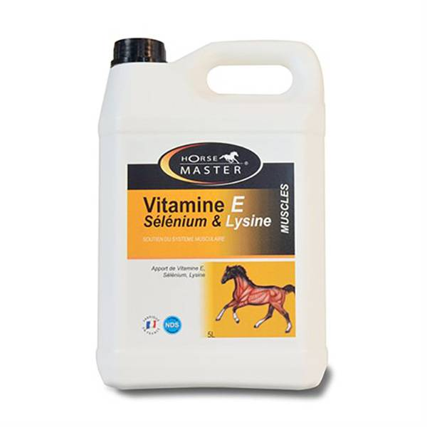 Vitamine E Selenium Lysine Horse Master Cheval Solution Buvable 5L