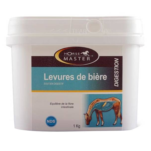 Pommier Nutrition Horse Master Levure de Biere Equilibre de la Flore Intestinal Cheval Poudre Orale pot de 1kg