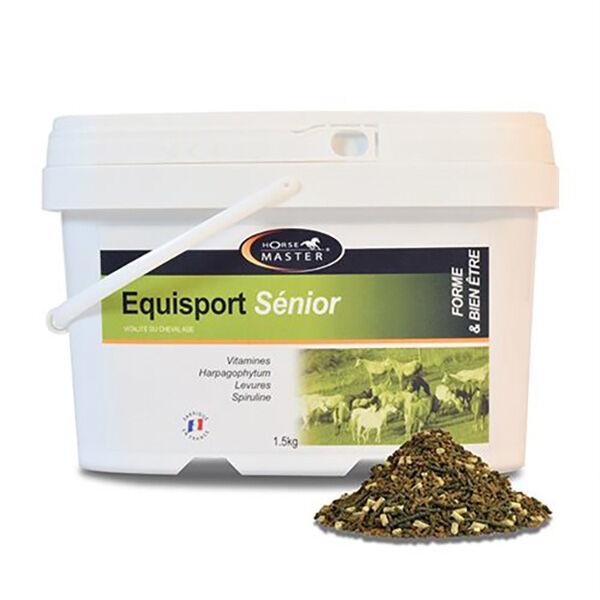 Pommier Nutrition Equisport Senior Horse Master Complement Nutritionnel Forme et Bien Etre Cheval Age Granule 1,5kg
