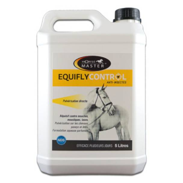 Pommier Nutrition Equifly Control Insectifuge Cheval Solution Externe Recharge bidon de 5L