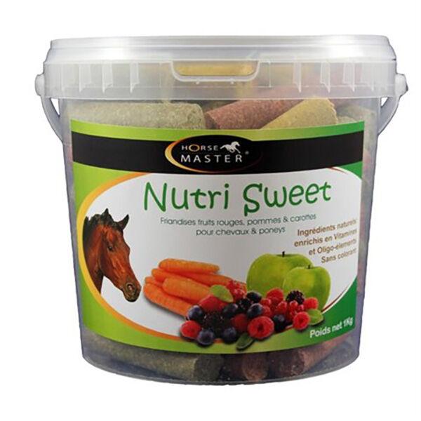 Pommier Nutrition Horse Master Nutri Sweet Triple Saveurs Friandise Cheval en seau de 1kg
