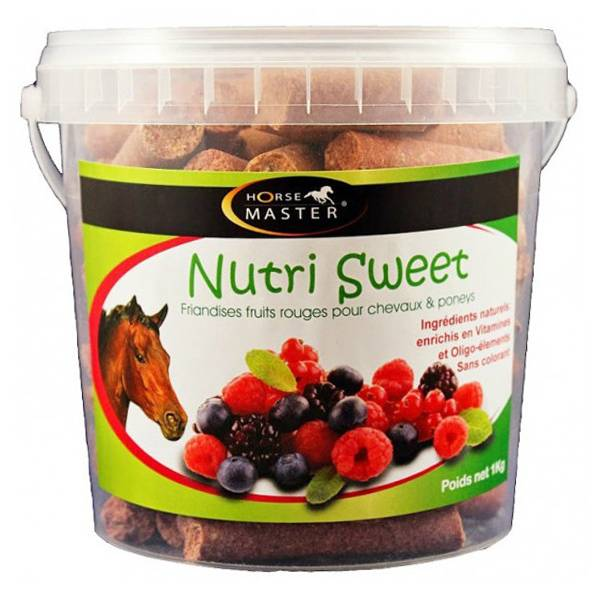 Pommier Nutrition Horse Master Nutri Sweet fruits rouges Friandise Cheval en seau de 1kg
