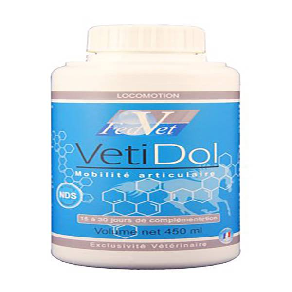 Vetidol Complément Alimentaire Mobilité Articulaire Cheval Solution Buvable 450ml