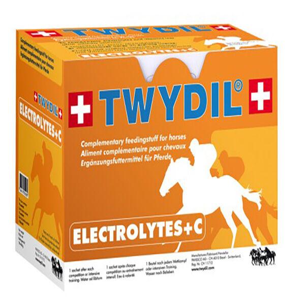 Twydil Electrolytes +c Apport en Electrolytes et Vitamine c Cheval Poudre Orale 10 sachets