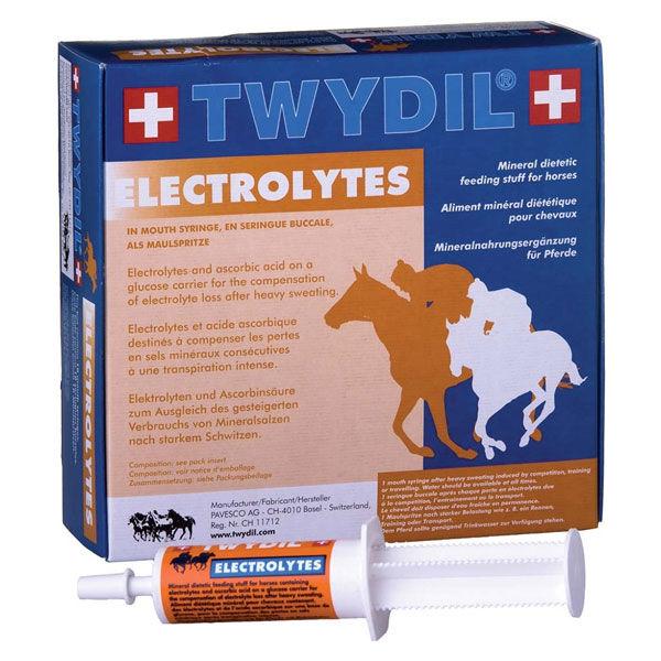 Twydil Aliment Complementaire a Base d'Electrolytes Chevaux Pate Orale 10 seringues de 60ml