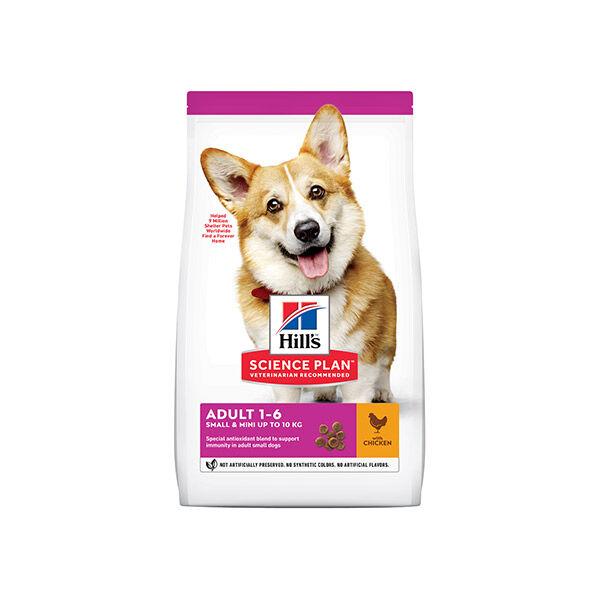 Hill's Science Plan Canine Adult Small & Mini -10kg Croquettes Poulet 6kg