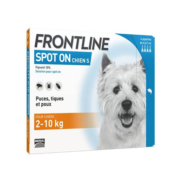 Frontline Spot On Chien S 4 pipettes