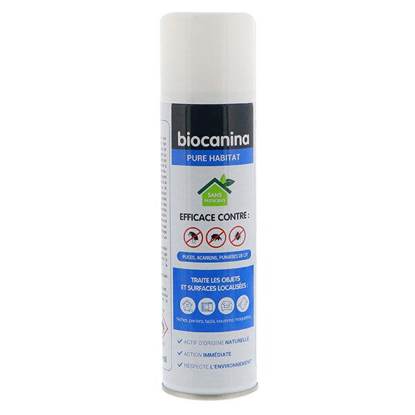 Biocanina Pure Habitat Spray Traitant Objets Surfaces Anti Puces Acariens Punaises de lit 200ml