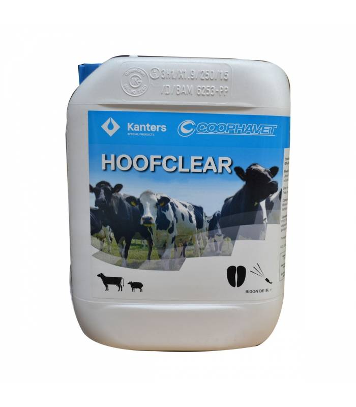 Dopharma hoof clear hygiene et soin onglons bovin ovin caprin solution externe bidon de 5l