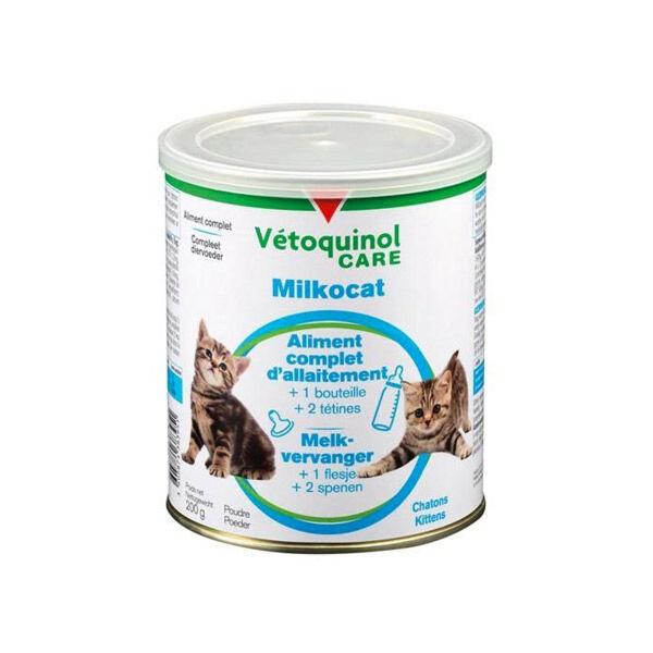 Vetoquinol Milkocat Lait En Poudre Boite 200g + Biberon