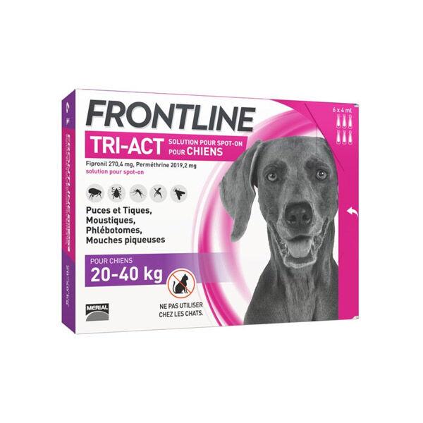 Frontline Tri-Act Chiens 20 à 40kg 6 pipettes