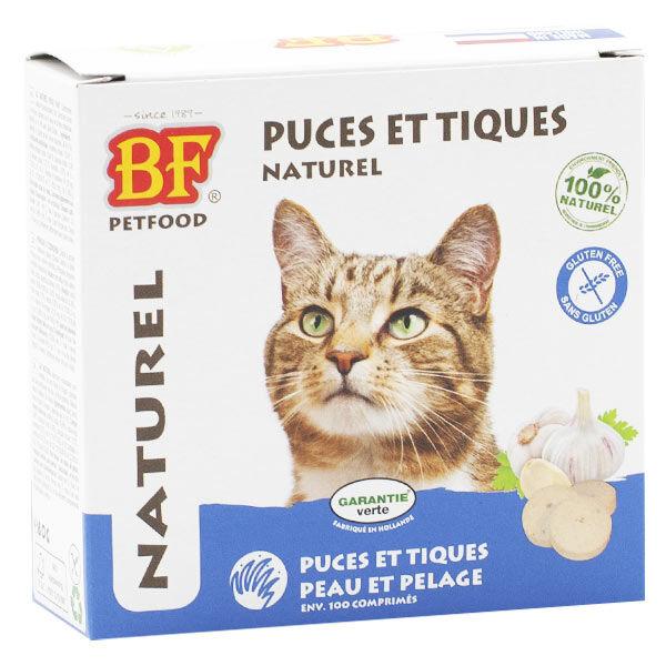 Biofood Chat Anti Puces et Tiques Naturel 100 comprimés
