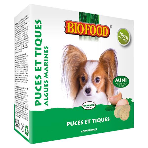 Biofood Chien Puces et Tiques Algues Marines Petit Chien 100 comprimés