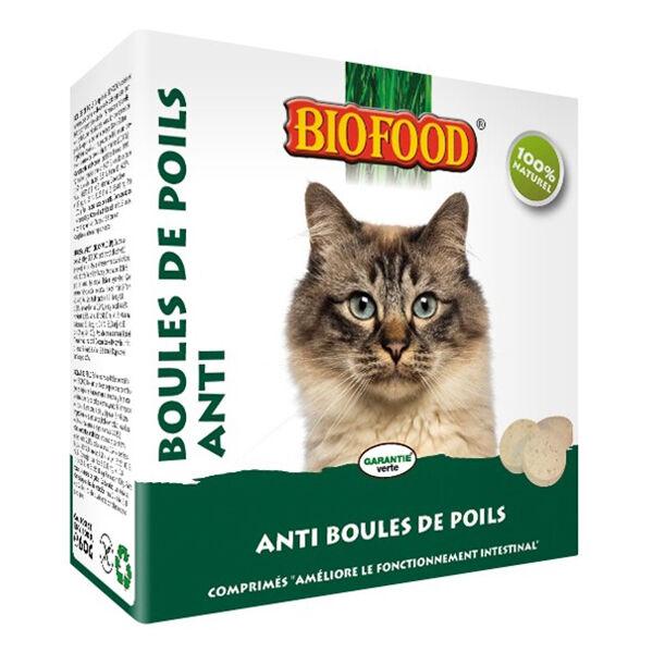 Biofood Chat Comprimés Anti Boules de Poils 100 pièces