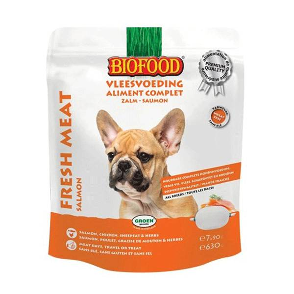 Biofood Chien Aliment Complet Saumon 7 x 90g