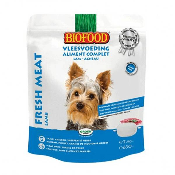 Biofood Chien Aliment Complet Agneau 7 x 90g